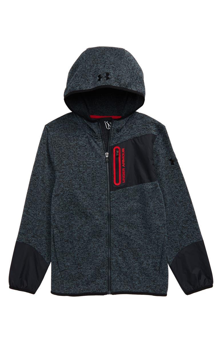UNDER ARMOUR Specialist ColdGear<sup>®</sup> Fleece Zip Hoodie, Main, color, WIRE
