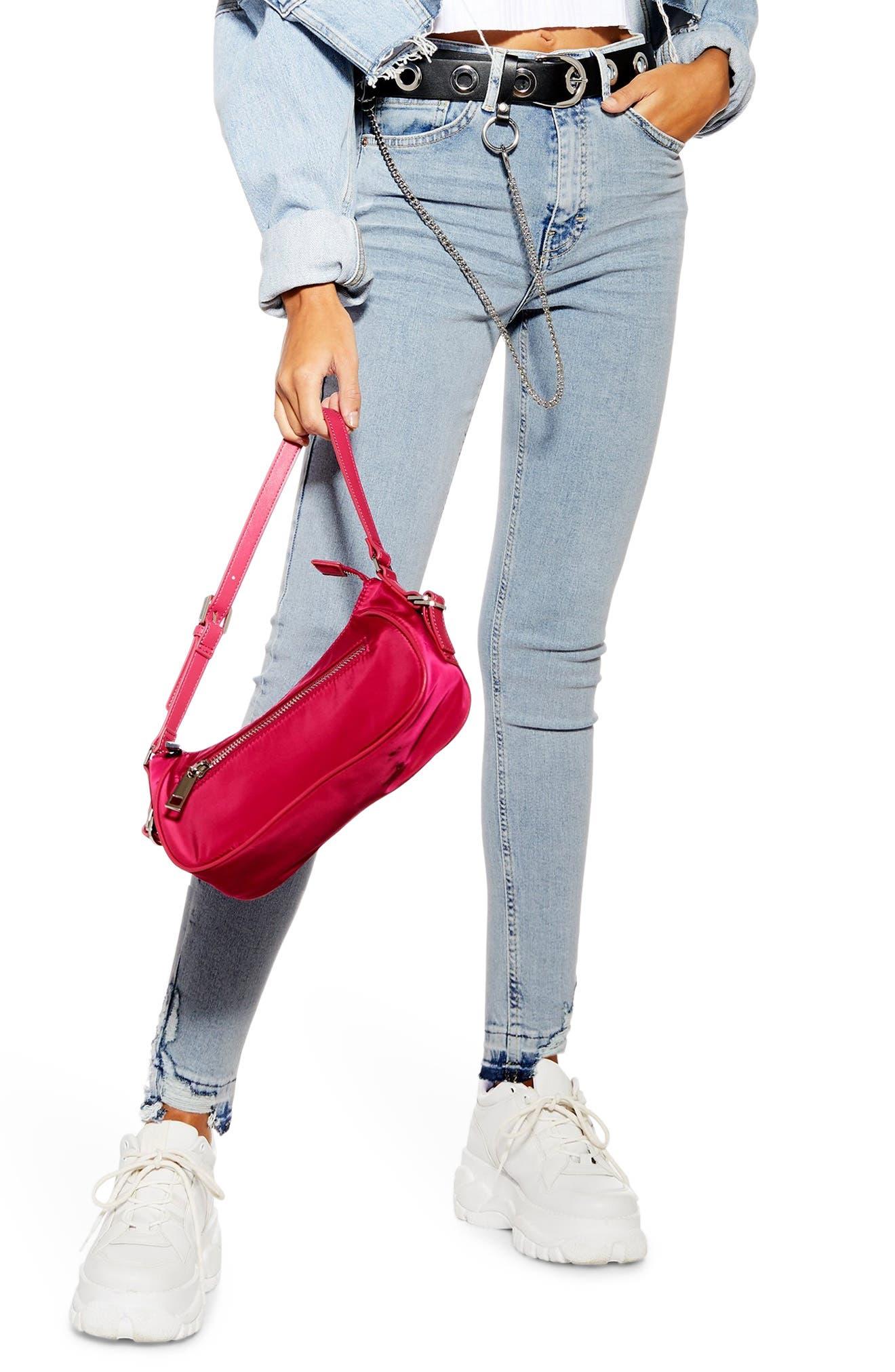 Topshop Jamie Rip Hem Jeans (Regular & Petite)