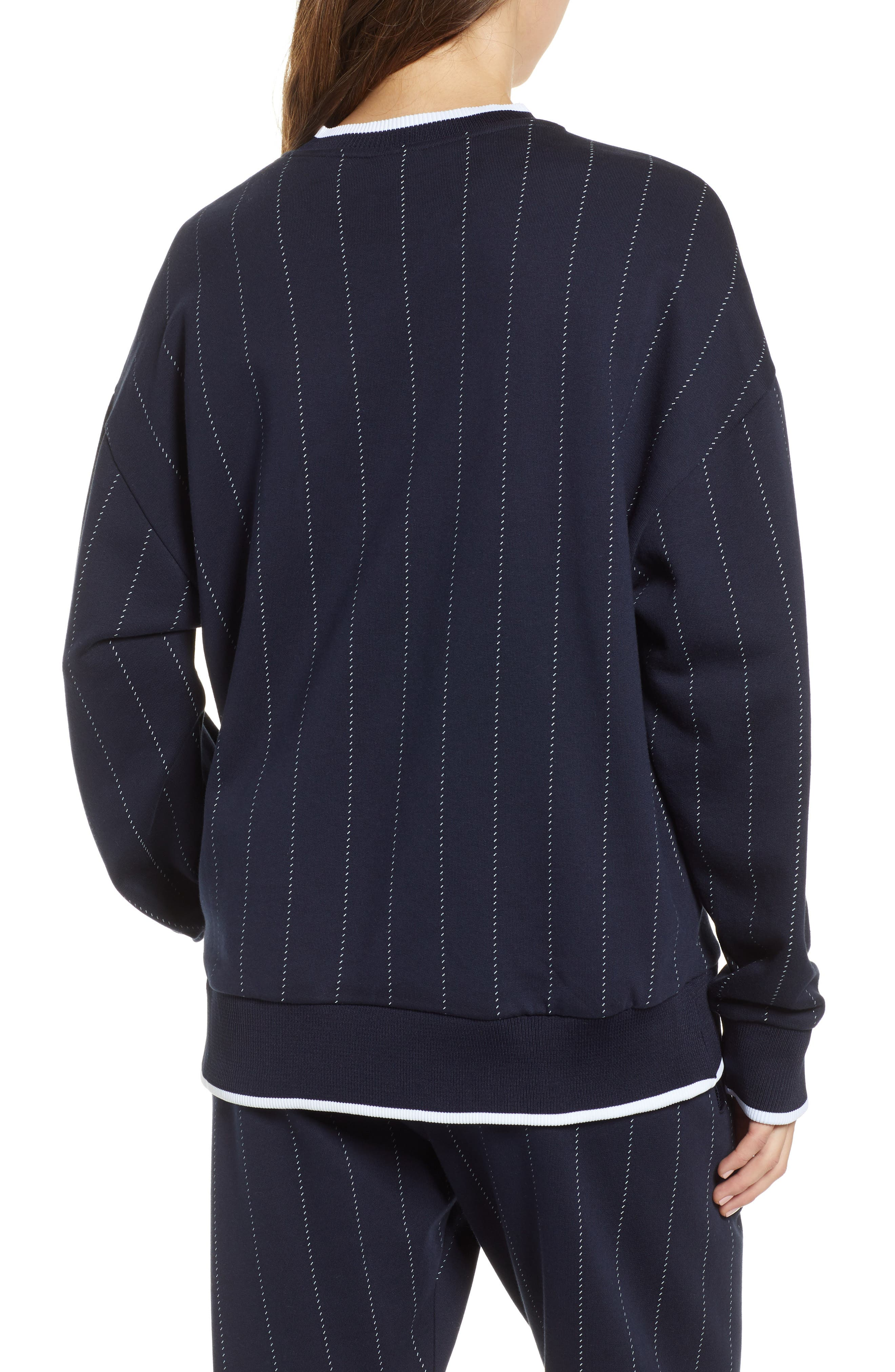 ,                             Baseball Pinstripe Sweatshirt,                             Alternate thumbnail 2, color,                             INK