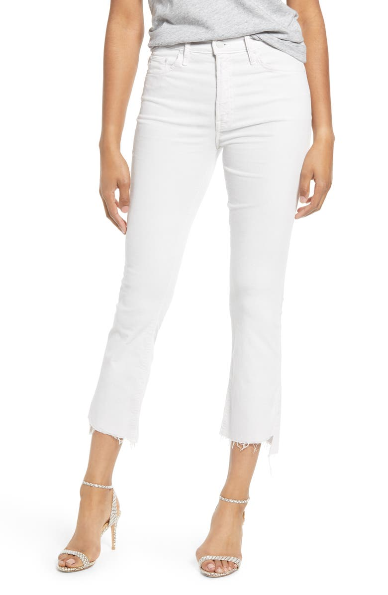 MOTHER The Insider High Waist Crop Step Fray Jeans, Main, color, 110