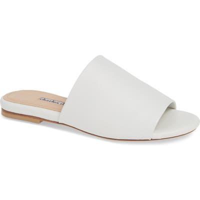 Charles David Soleil 2 Slide Sandal, White
