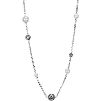 John Hardy Classic Chain Hammered Silver Sautoir Necklace
