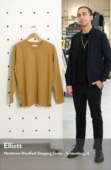 Side Zip Crewneck Sweater, sales video thumbnail