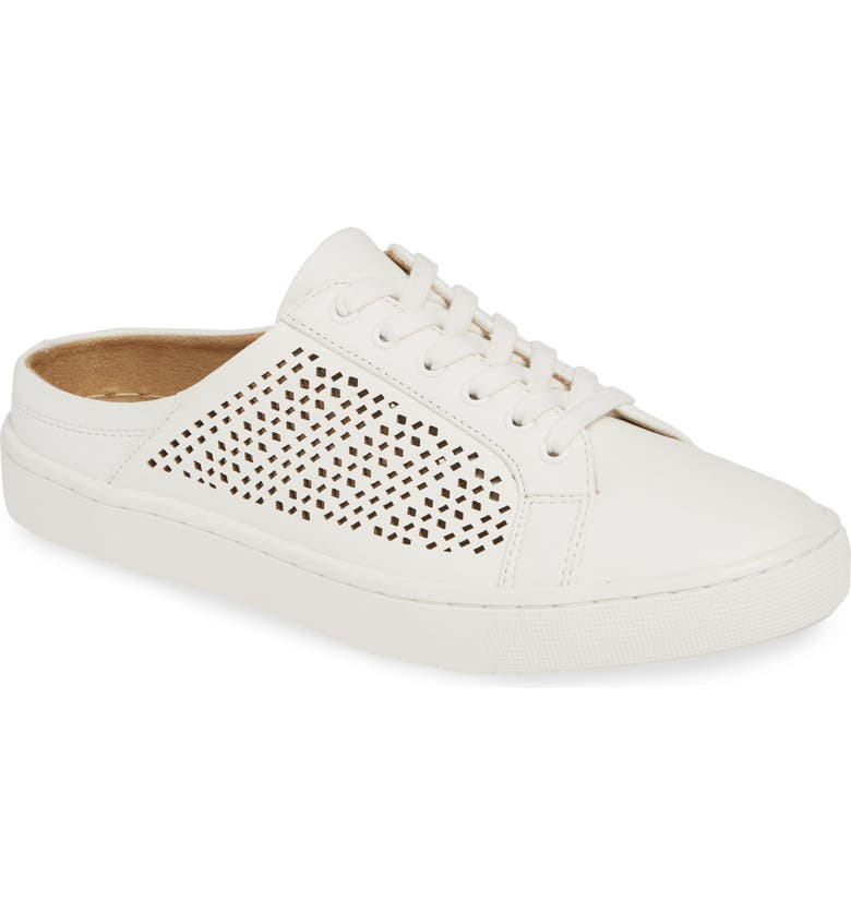 BELLA VITA Star Open Back Sneaker, Main, color, WHITE FABRIC