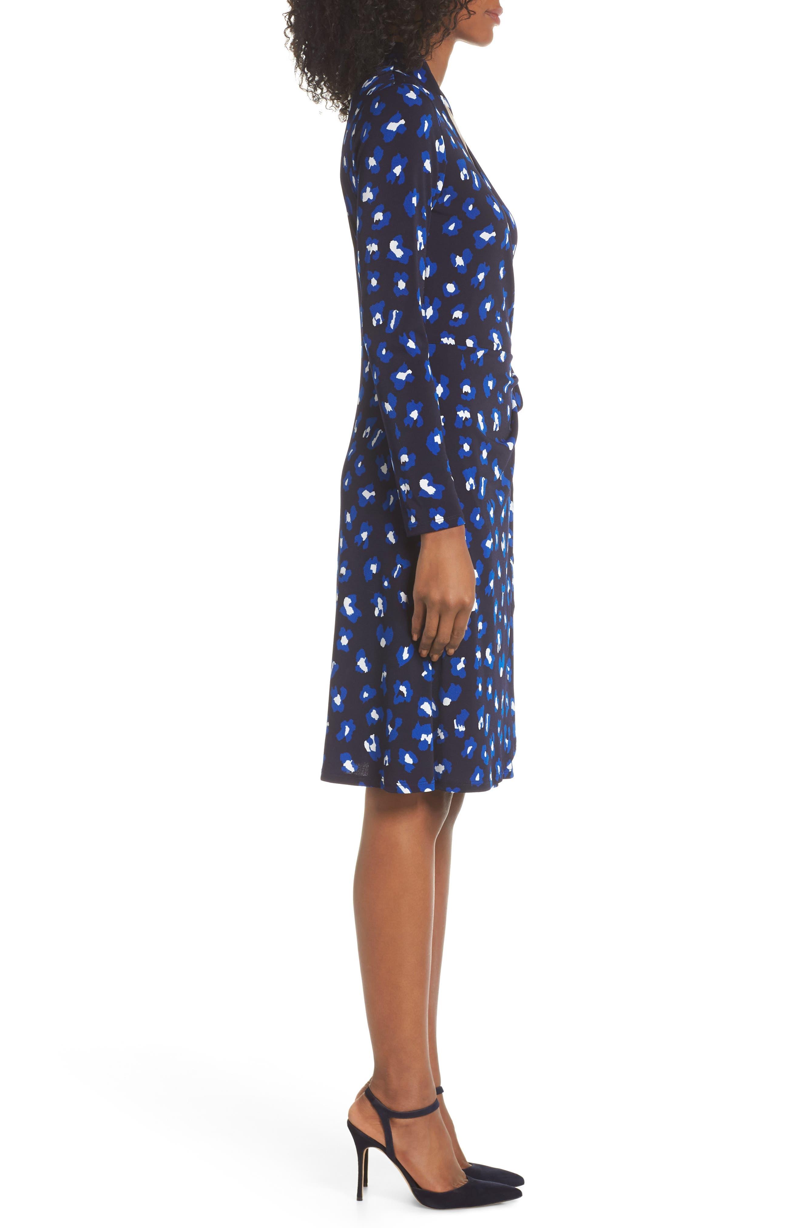 ,                             Gabrielle Wrap Dress,                             Alternate thumbnail 4, color,                             CHEETAH SPOT-CN
