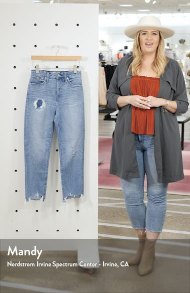 Step Hem Classic Straight Jeans, sales video thumbnail