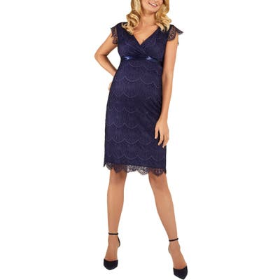 Tiffany Rose Imogen Maternity Cocktail Dress, Blue