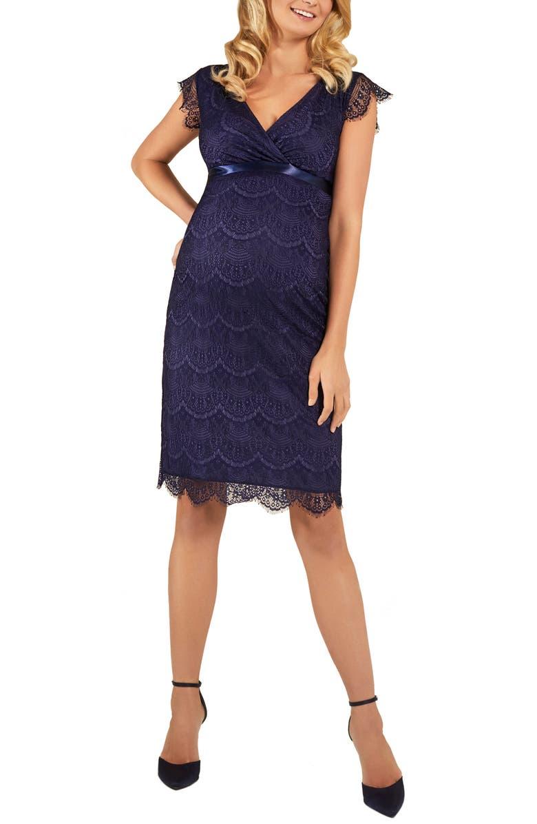 TIFFANY ROSE Imogen Maternity Cocktail Dress, Main, color, DUSKY BLUE