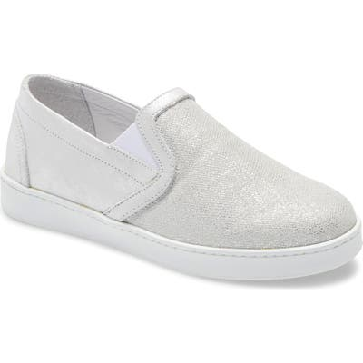 David Tate Valentina Metallic Slip-On Sneaker, Metallic