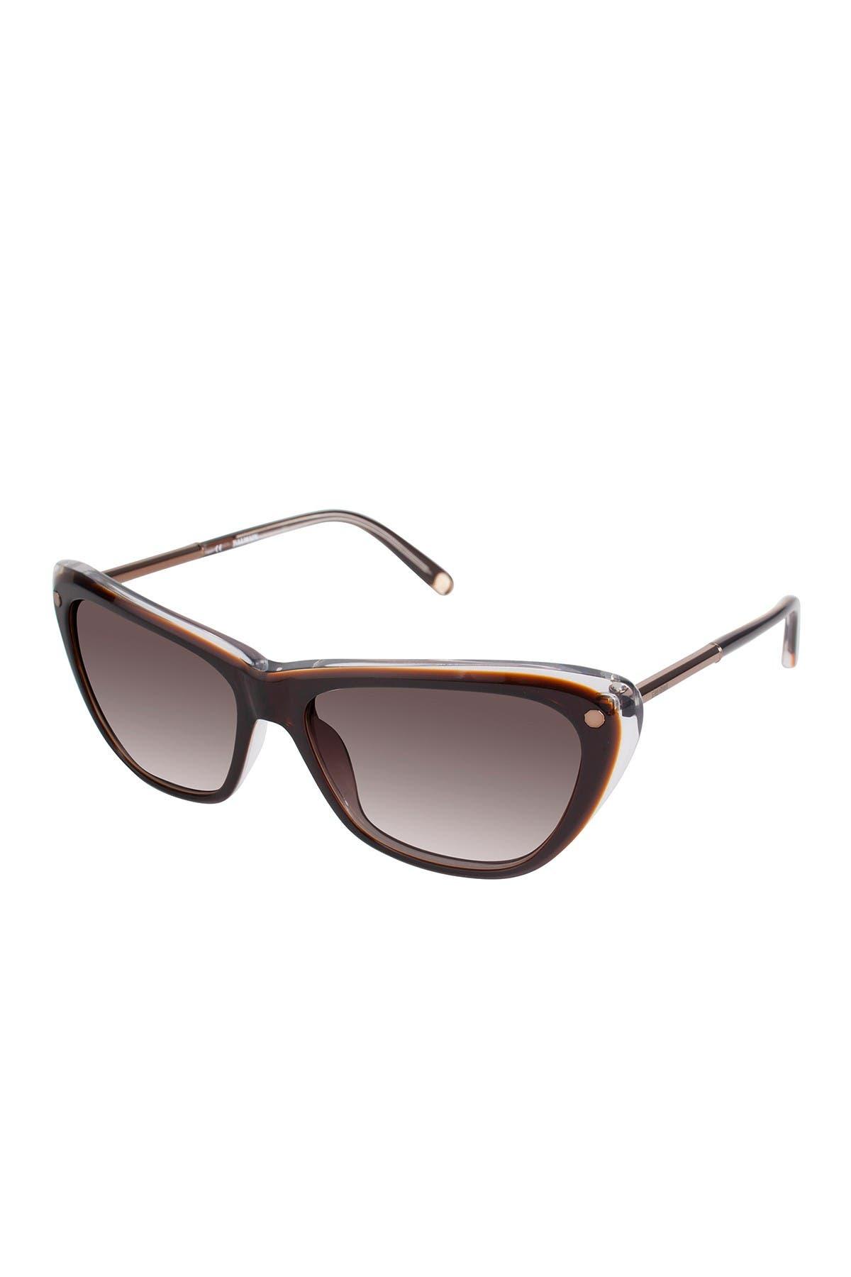 Image of Balmain 56mm Modified Cat Eye Sunglasses