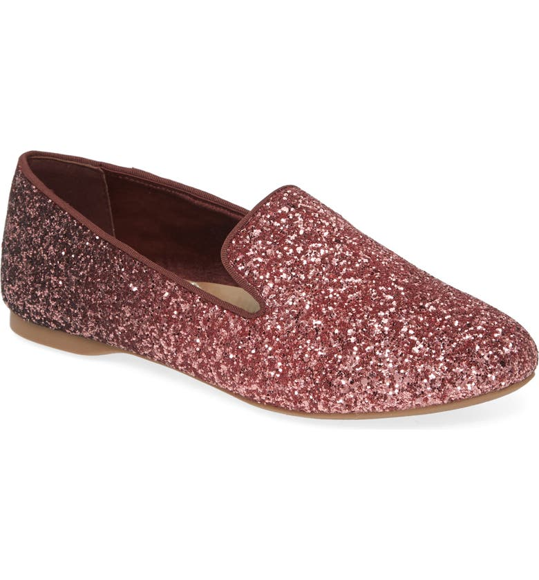 BIRDIES Starling Glitter Flat, Main, color, ROSE SPARKLE GLITTER