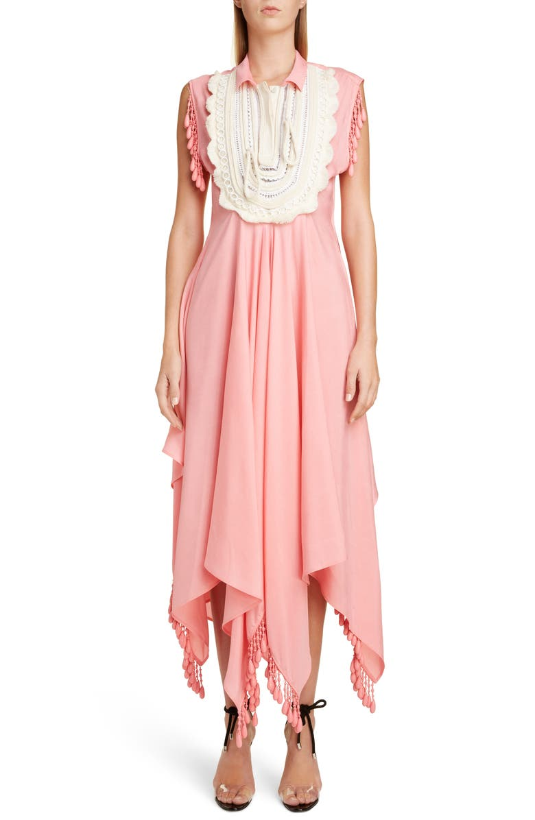 JW ANDERSON Beaded Handkerchief Shirtdress, Main, color, 650
