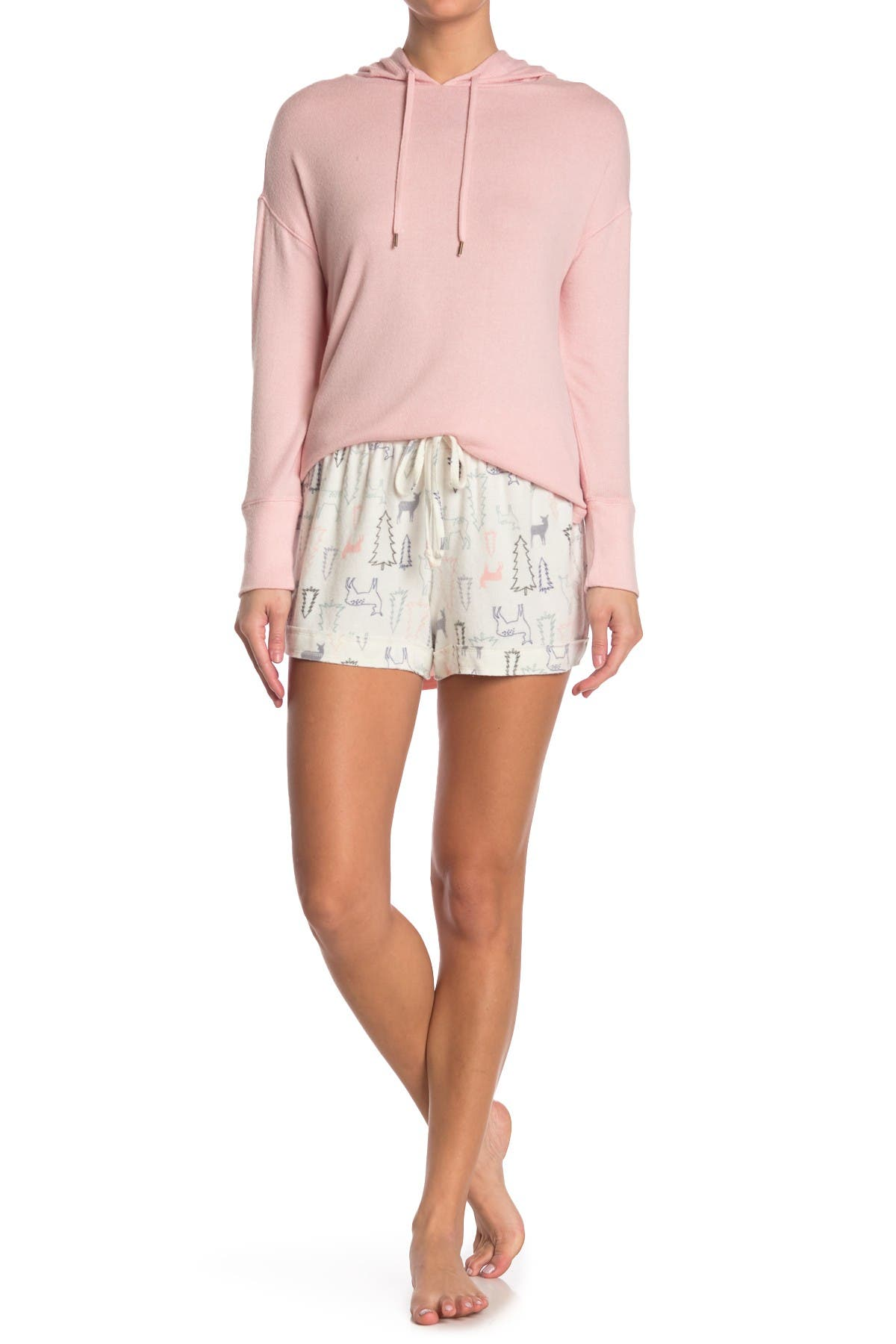 Image of Free Press Cozy Brushed Knit Lounge Shorts
