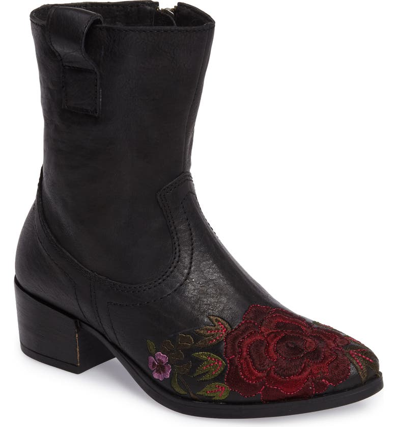SHERIDAN MIA Shallot Floral Embroidered Bootie, Main, color, 001