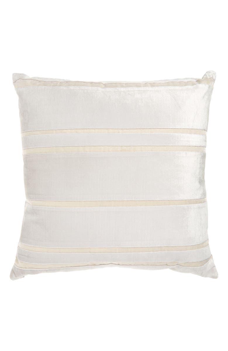NORDSTROM AT HOME Velvet Stripe Accent Pillow, Main, color, GREY FOG