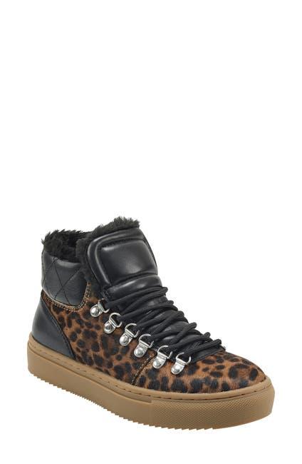 Image of Marc Fisher LTD Daisie Faux Fur Trim High Top Sneaker