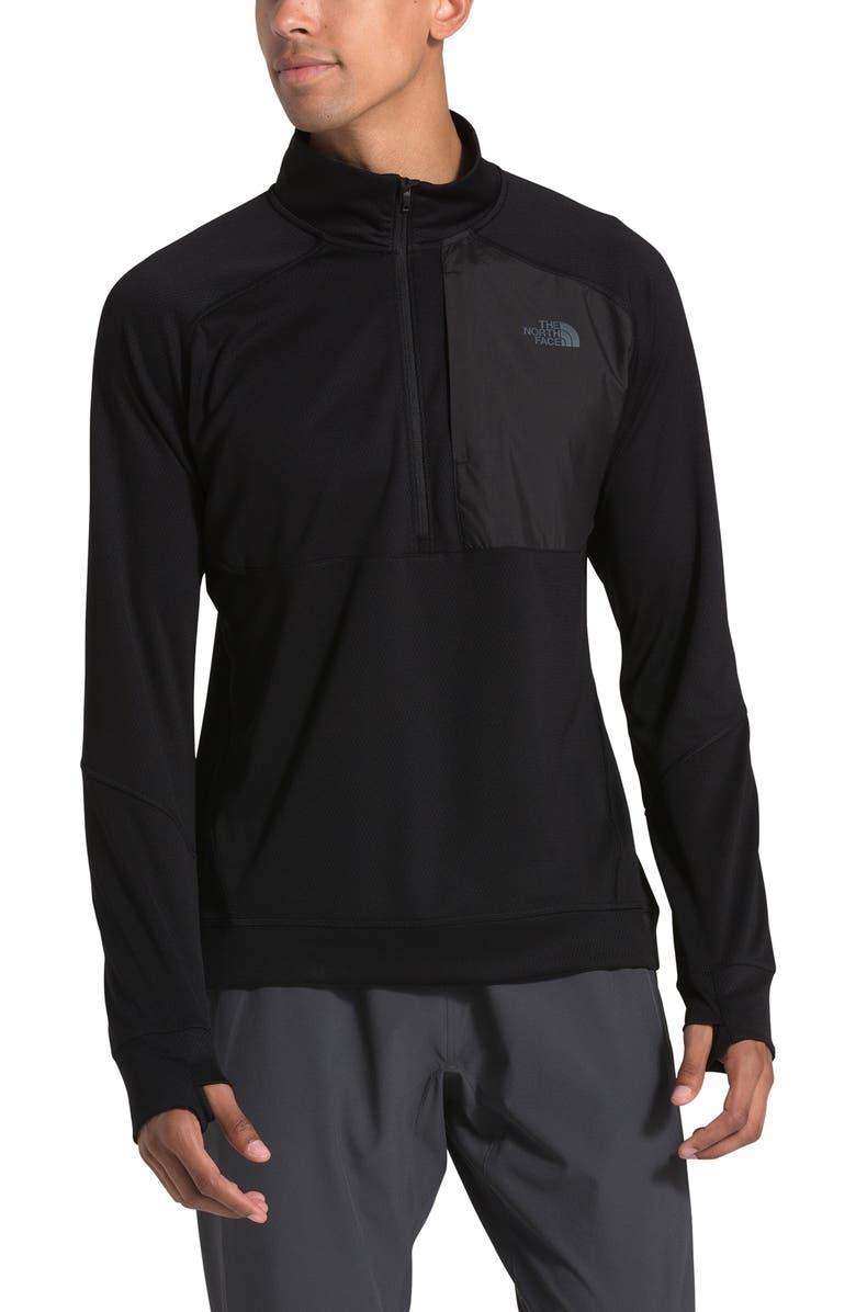 THE NORTH FACE Essential Quarter Zip Pullover, Main, color, TNF BLACK