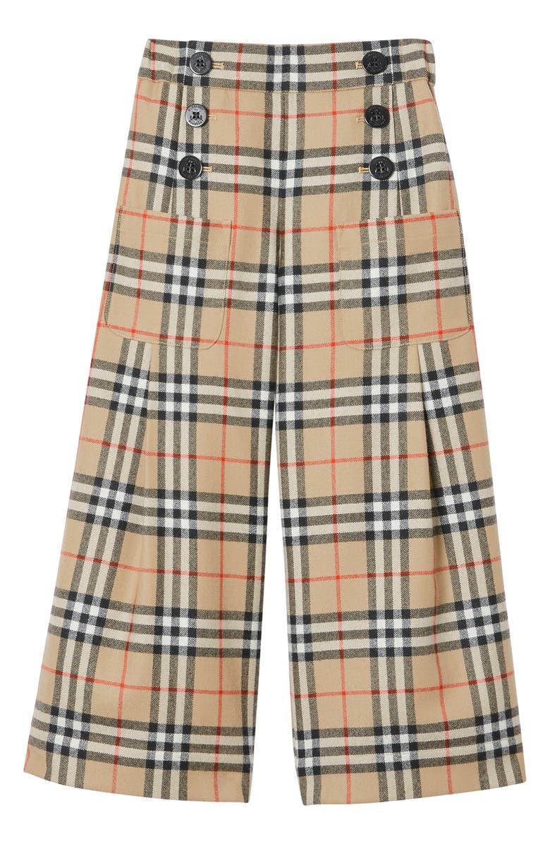 BURBERRY Taren Wide Leg Pants, Main, color, ARCHIVE BEIGE