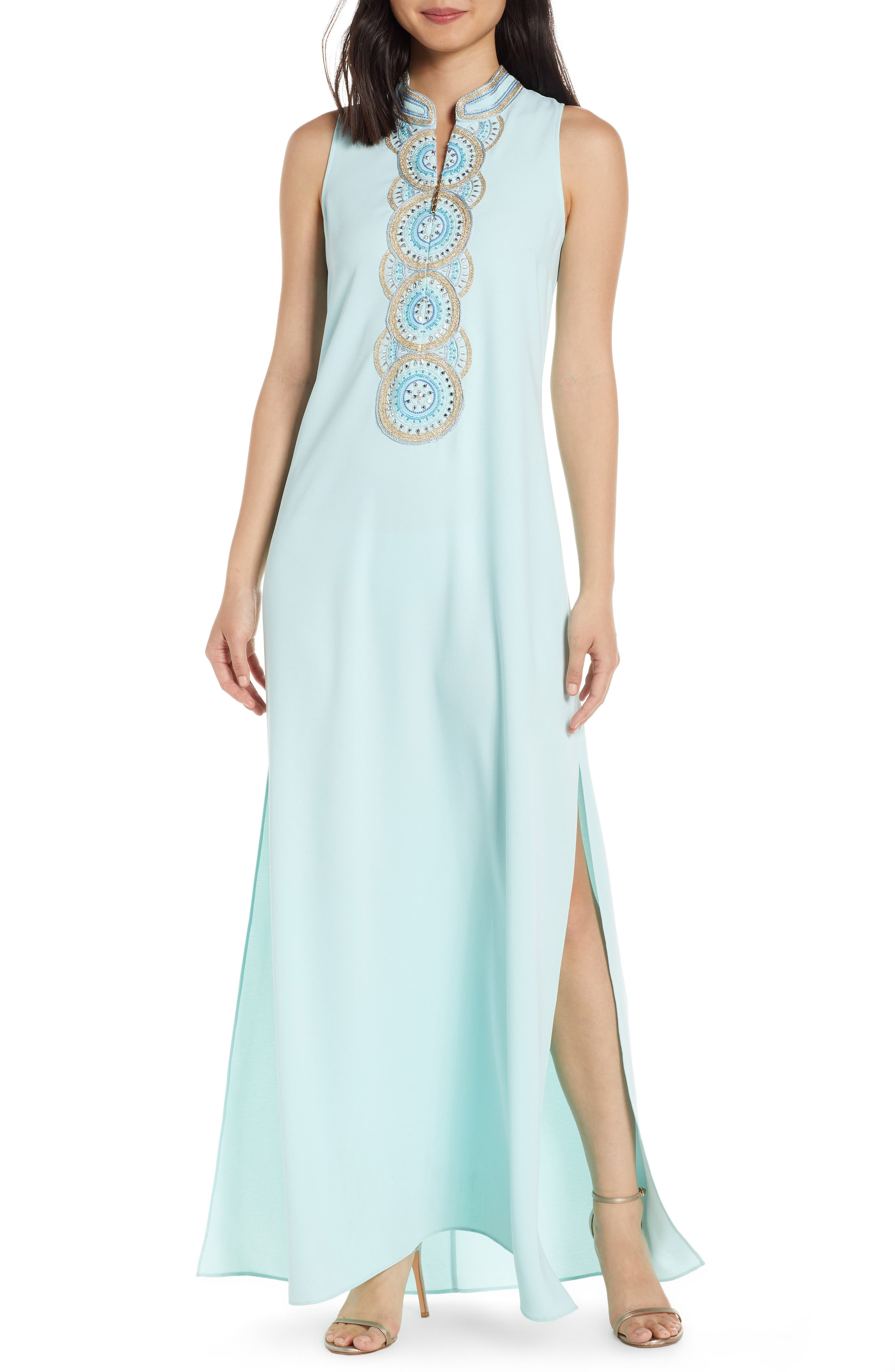 Lilly Pulitzer Jane Embroidered Maxi Dress, Blue