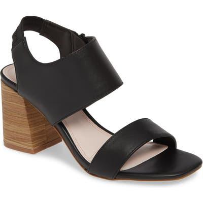 Kensie Elianna Block Heel Sandal- Black