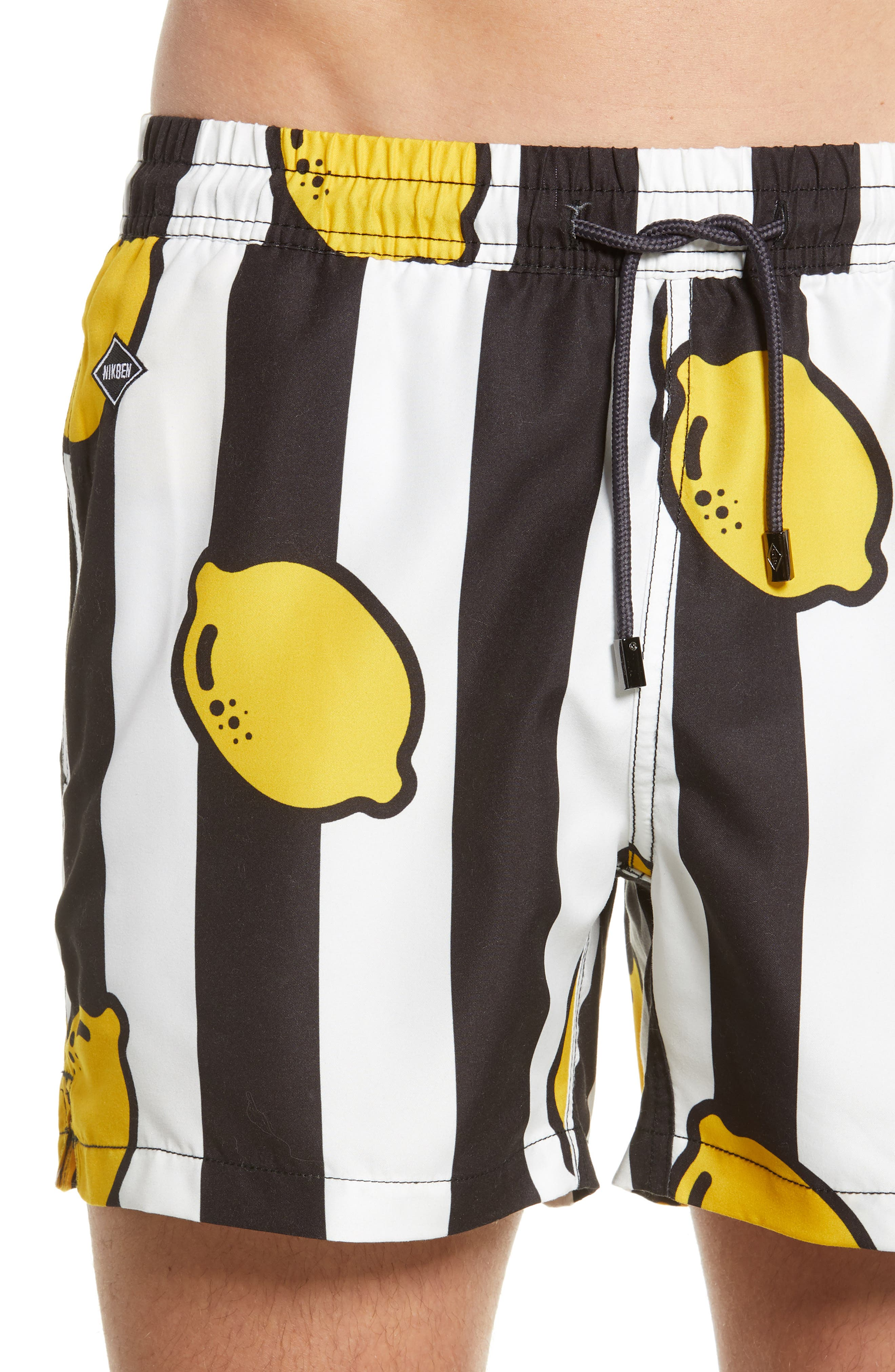 ,                             Limoncello Swim Trunks,                             Alternate thumbnail 4, color,                             BLACK/WHITE