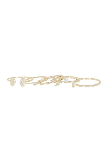 Image of Loren Olivia 14K Gold Butterfly Ring Pack - Set of 5