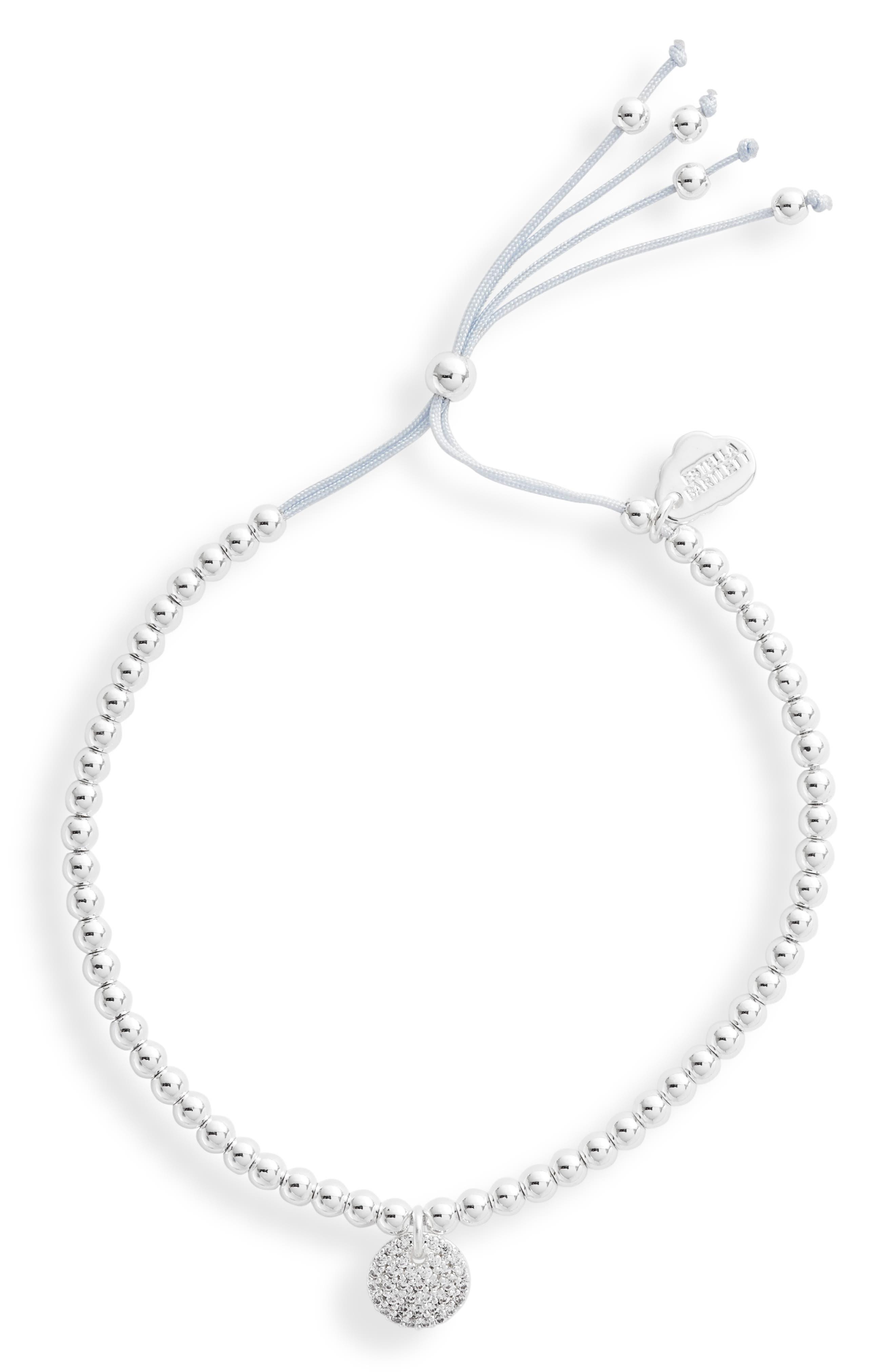 Pave Disc Slider Bracelet