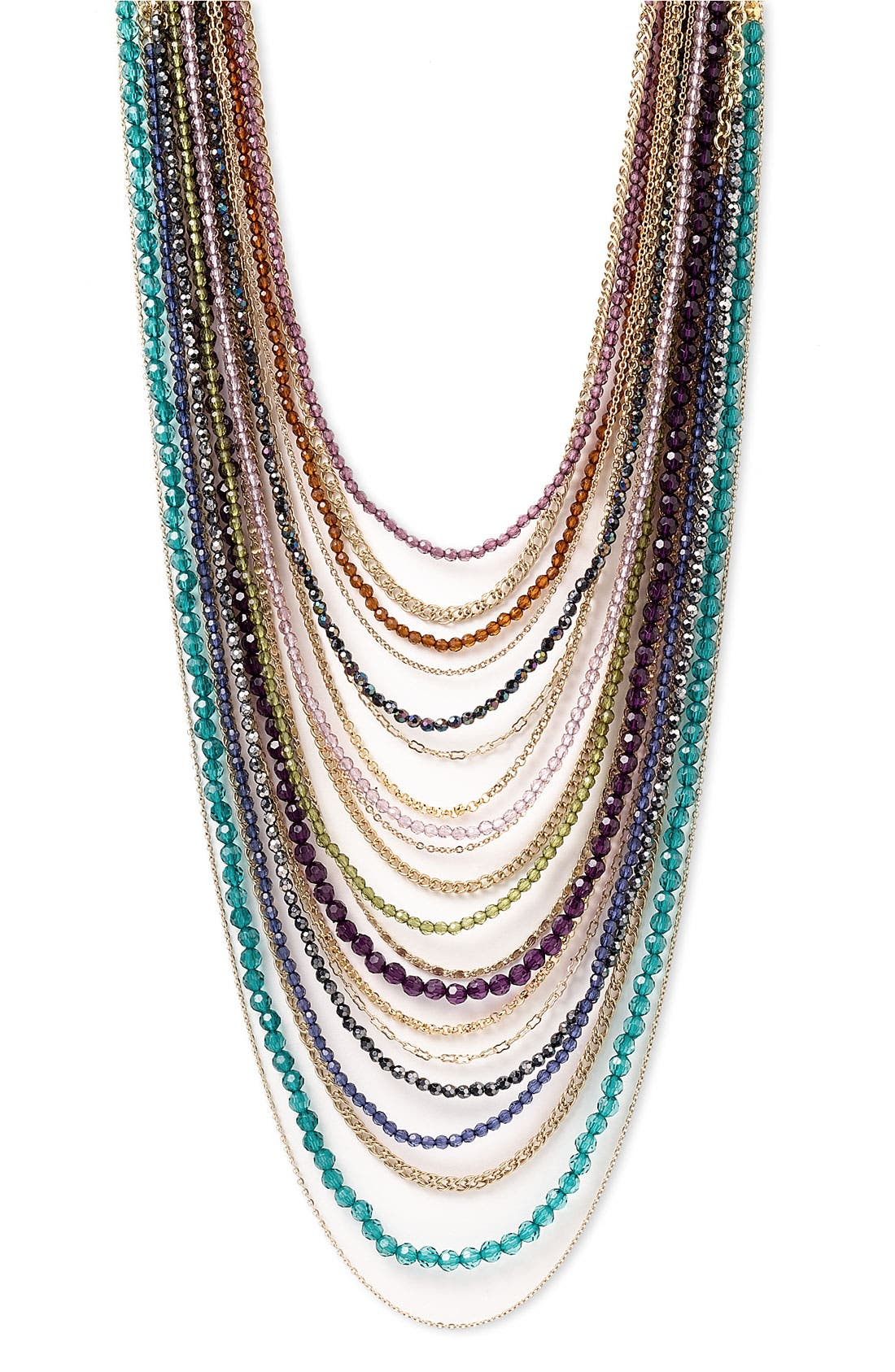 ,                             Beaded Long Multistrand Necklace,                             Main thumbnail 12, color,                             400