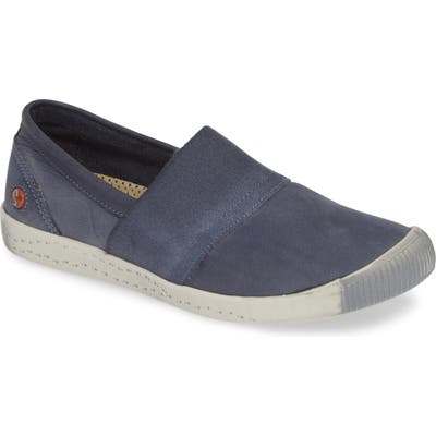 Softinos By Fly London Ino Slip-On Sneaker, Blue