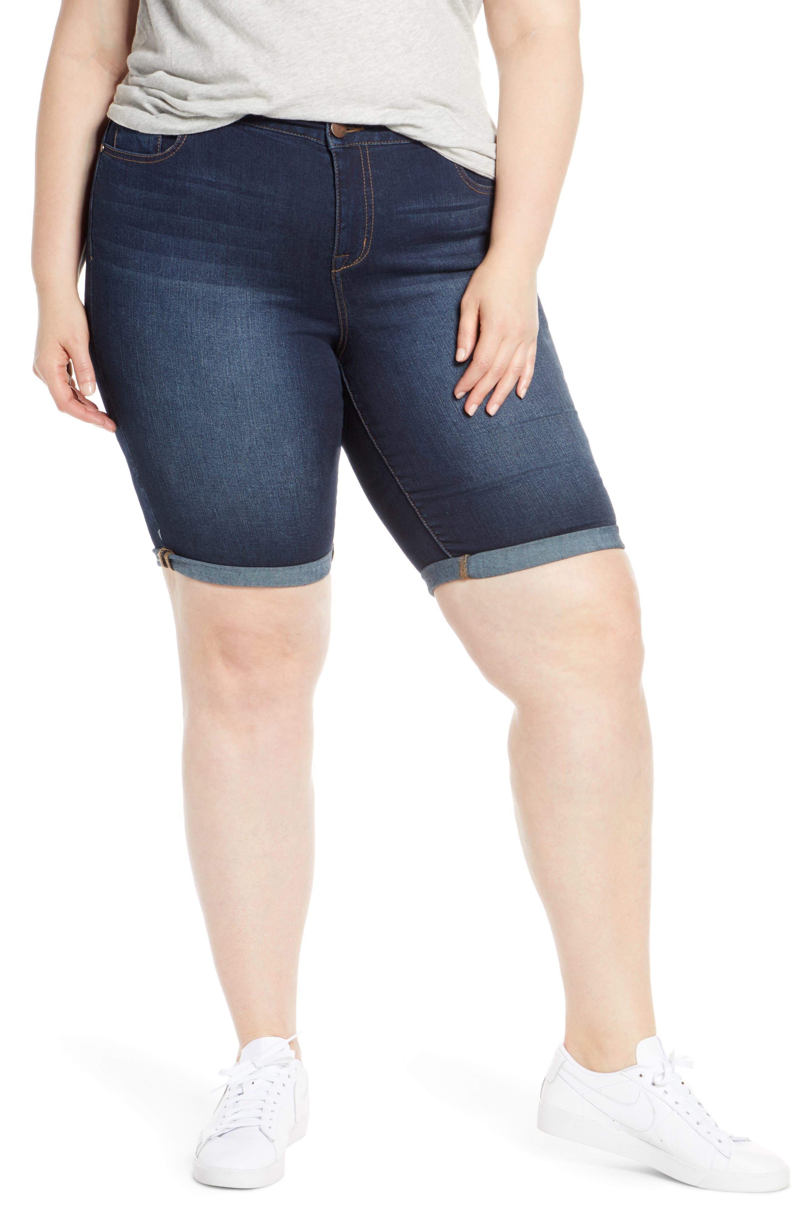 Plus Women's 1822 Denim Bermuda Shorts