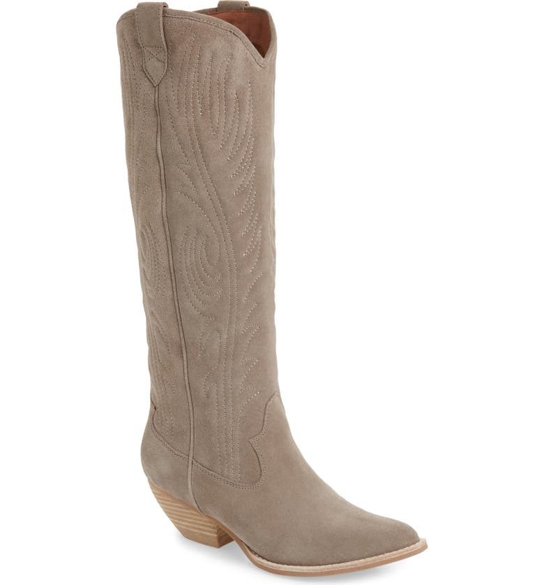 JEFFREY CAMPBELL Calvera Knee-High Boot, Main, color, DARK TAUPE SUEDE