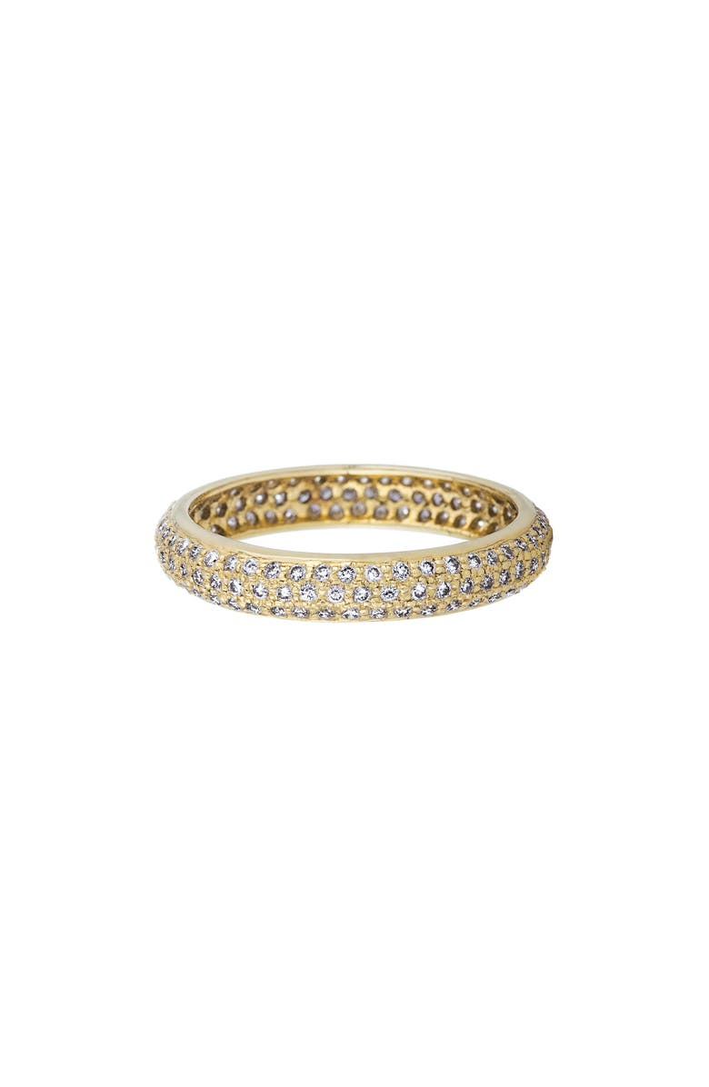 SETHI COUTURE Pavé Diamond Band Ring, Main, color, YELLOW GOLD/ DIAMONDS