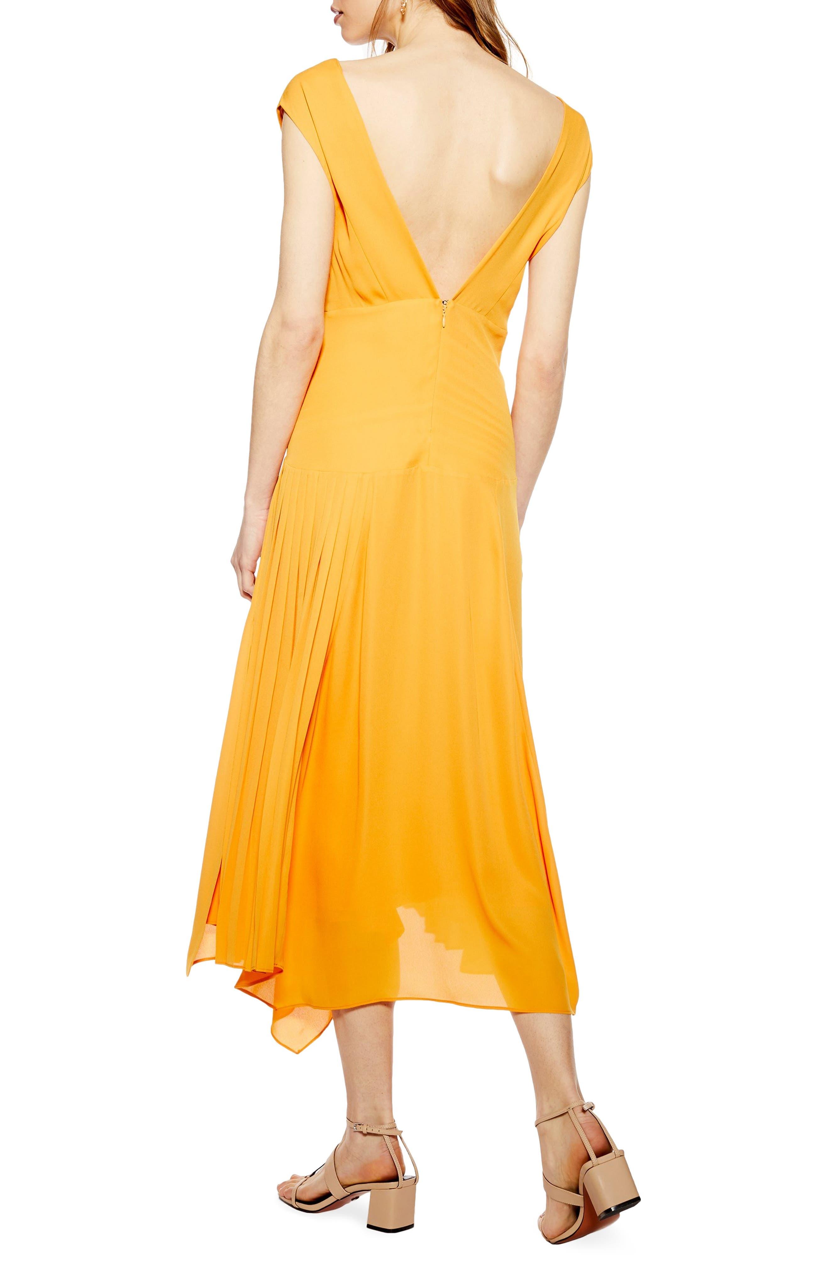 ,                             Pleated Pinafore Midi Dress,                             Alternate thumbnail 11, color,                             700