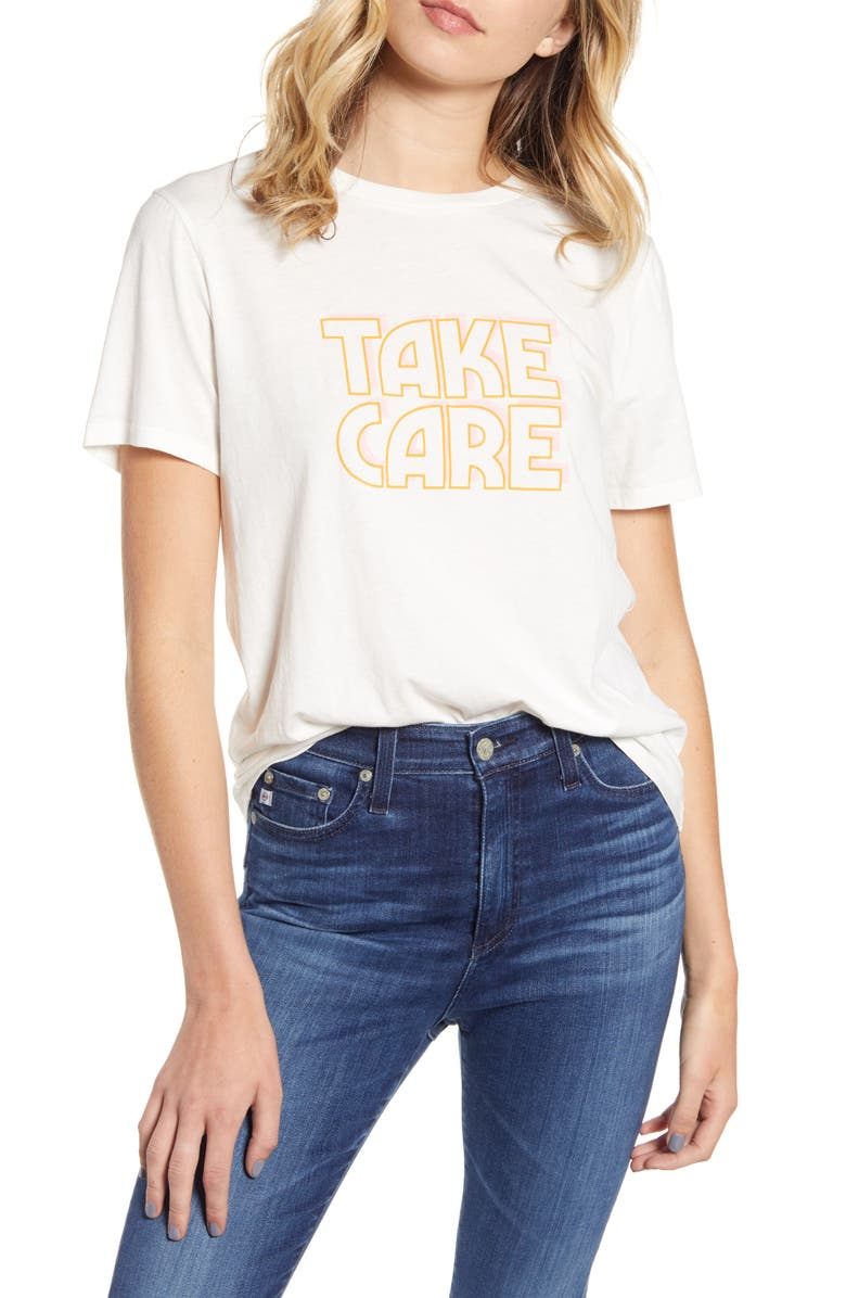 BAN.DO Take Care Tee, Main, color, IVORY