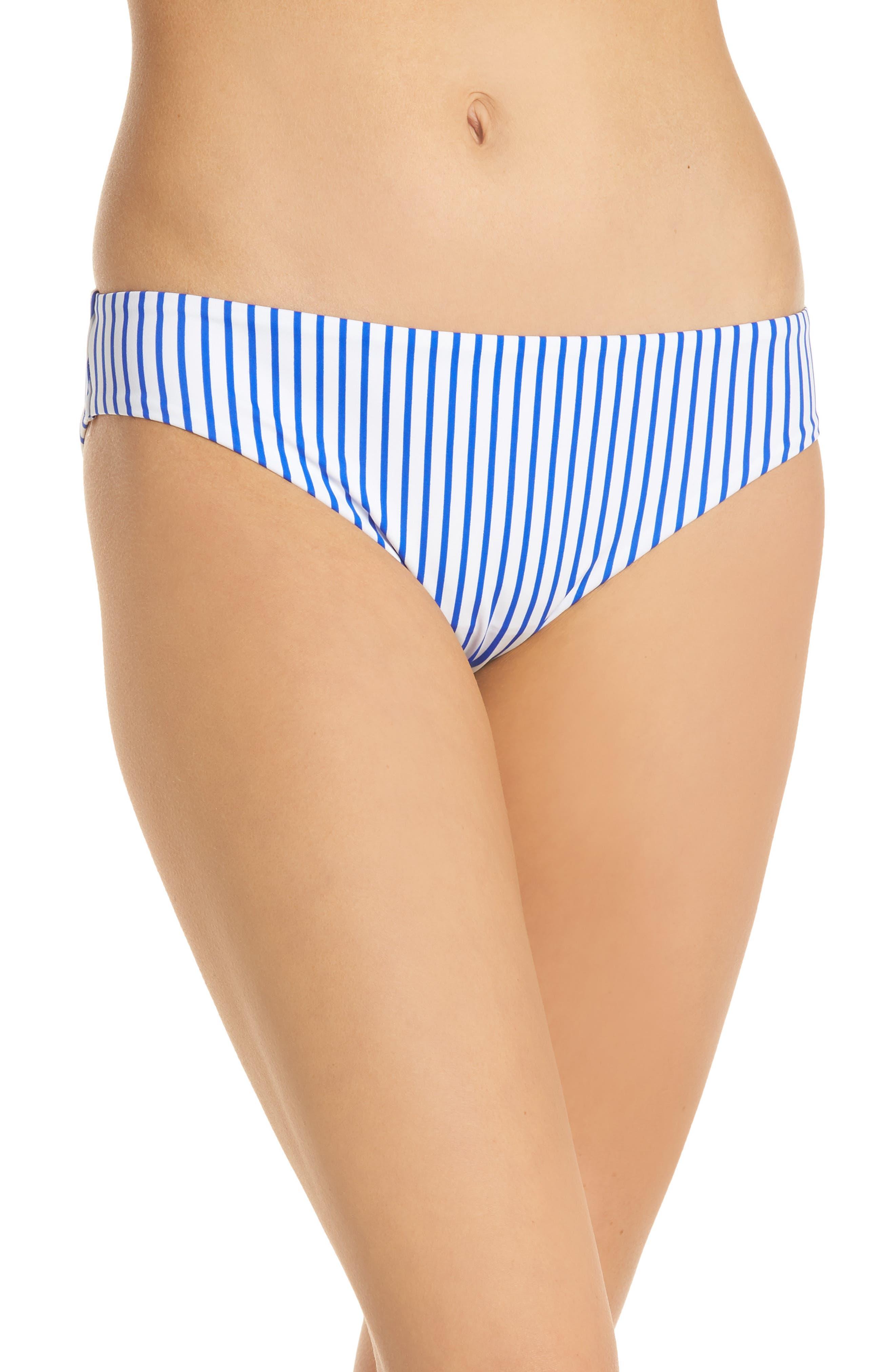 Freya Totally Stripe Bikini Bottoms, Blue