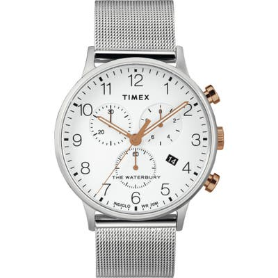 Timex Waterbury Chronograph Mesh Strap Watch, 40mm