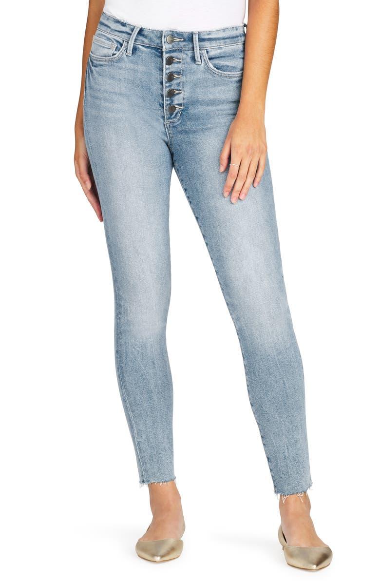 SAM EDELMAN Stiletto Cut Hem High Waist Ankle Skinny Jeans, Main, color, JESSIE