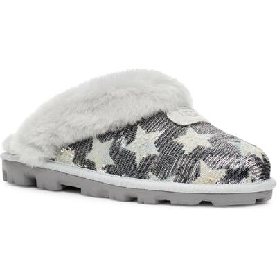 UGG Sequin Stars Genuine Shearling Slipper, Grey