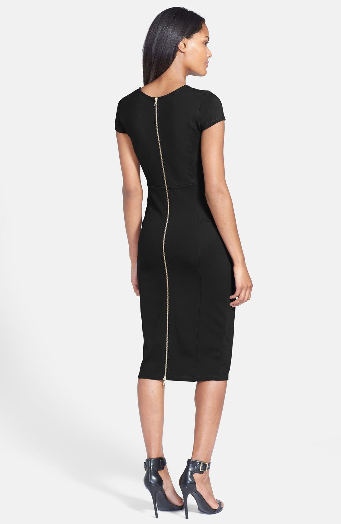 ,                             Ward Seamed Pencil Dress,                             Alternate thumbnail 8, color,                             001