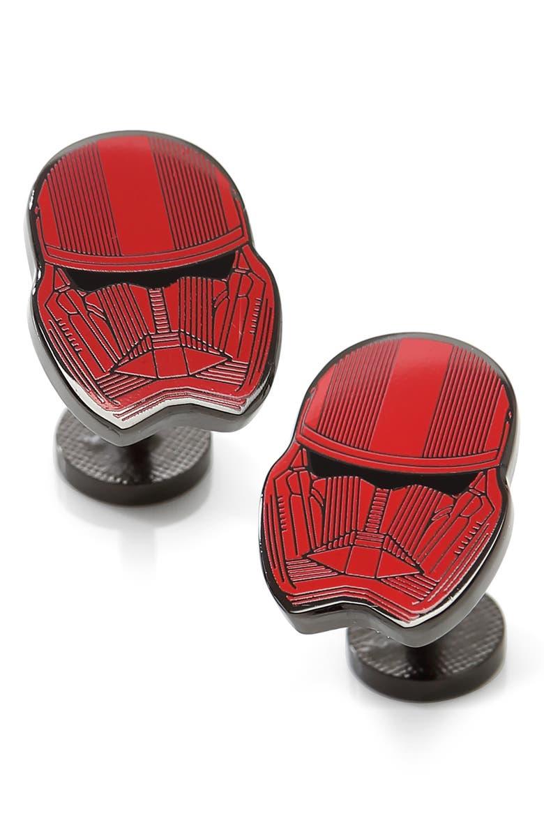 CUFFLINKS, INC. Stormtrooper Cuff Links, Main, color, RED