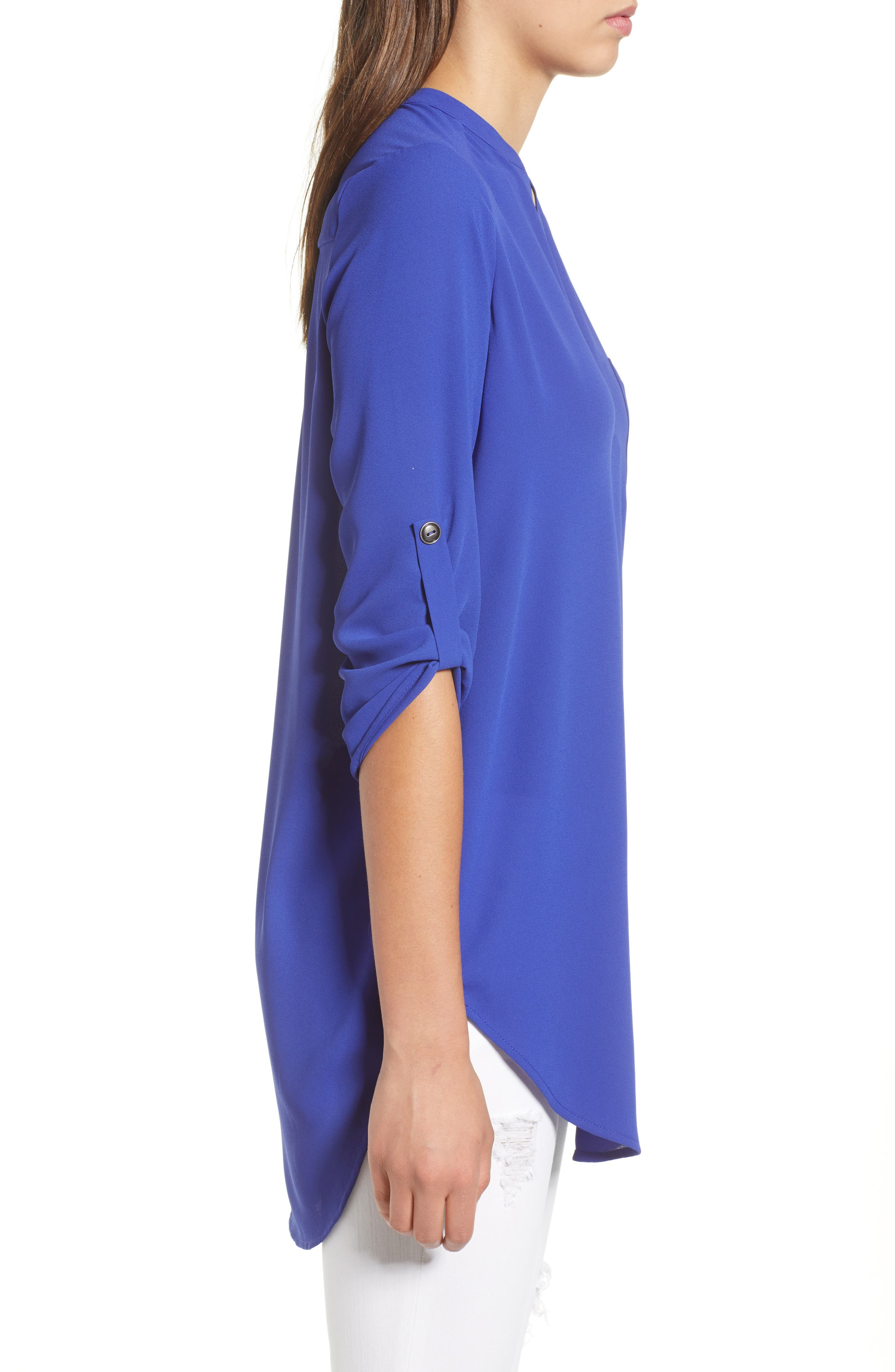 ,                             Perfect Roll Tab Sleeve Tunic,                             Alternate thumbnail 94, color,                             425
