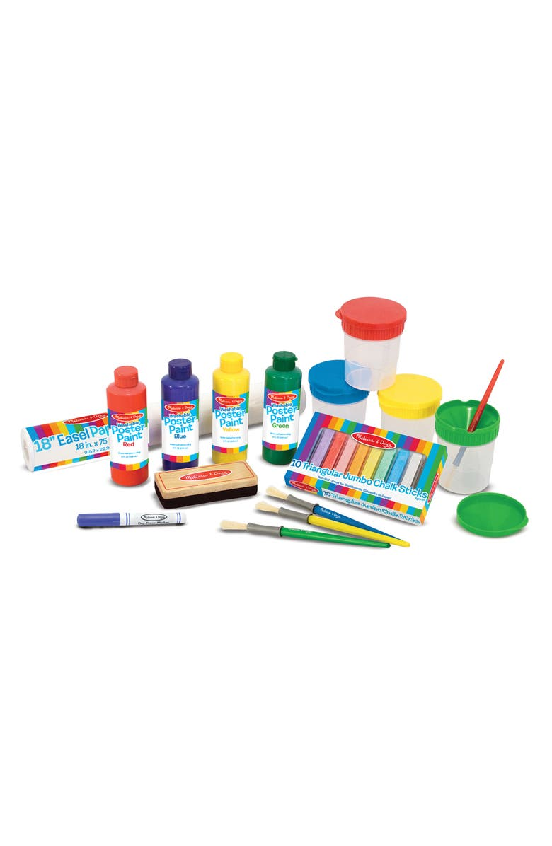 MELISSA & DOUG Deluxe Standing Wooden Easel & Art Supply Set, Main, color, 960