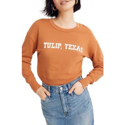 Madewell Tulip Texas Crop Sweatshirt, Orange