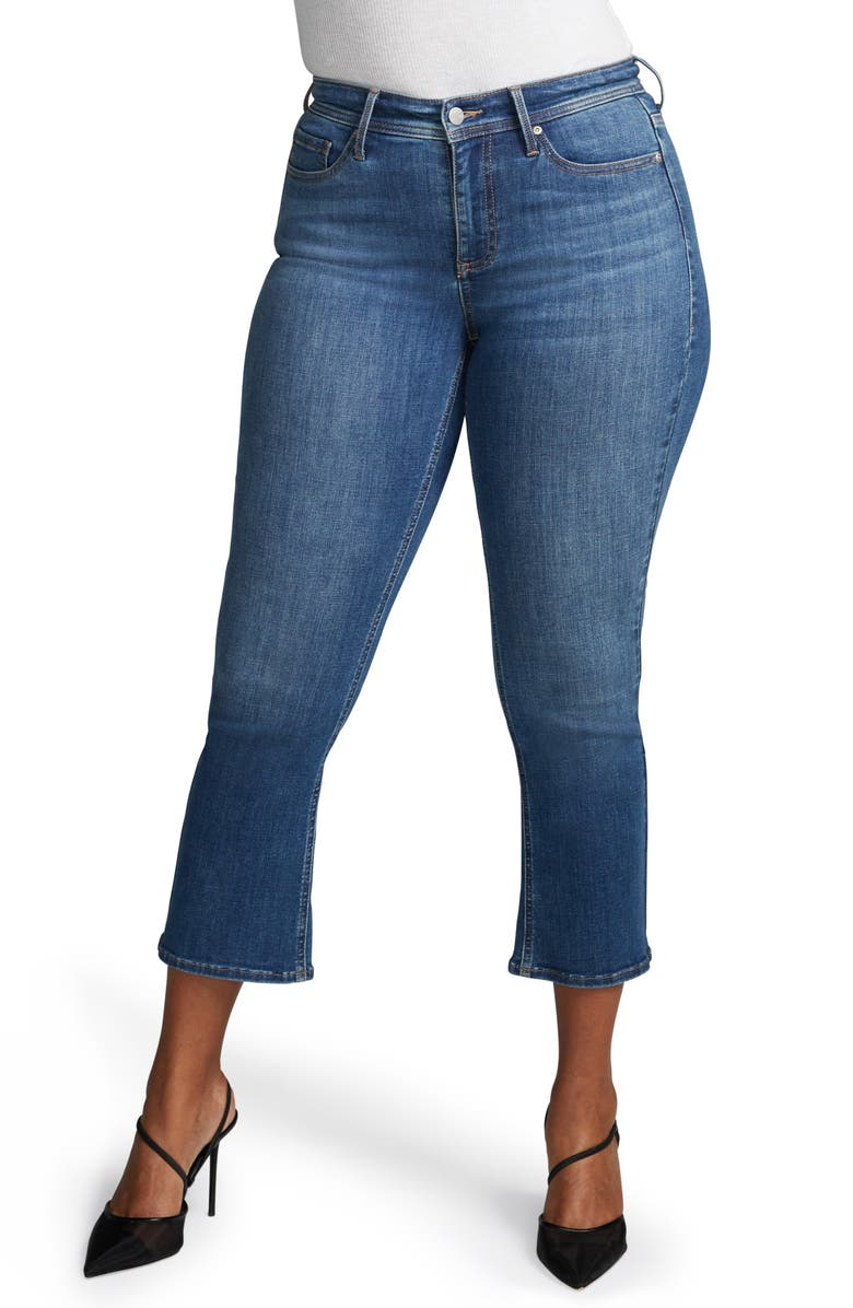 CURVES 360 BY NYDJ Shape Kick Flare Crop Jeans, Main, color, 422