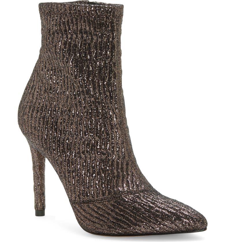 JESSICA SIMPSON Lailra Pointed Toe Stiletto Boot, Main, color, GUNMETAL LEATHER
