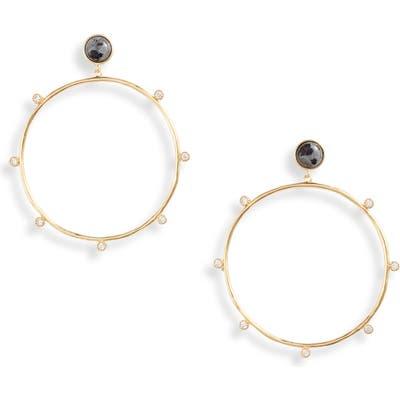 Gorjana Eloise Stone Drop Hoop Earrings