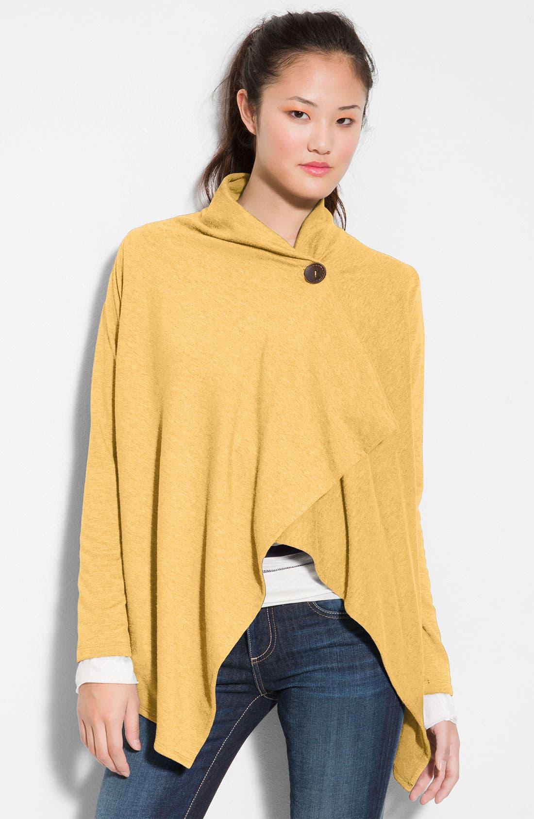 ,                             One-Button Fleece Wrap Cardigan,                             Main thumbnail 227, color,                             799