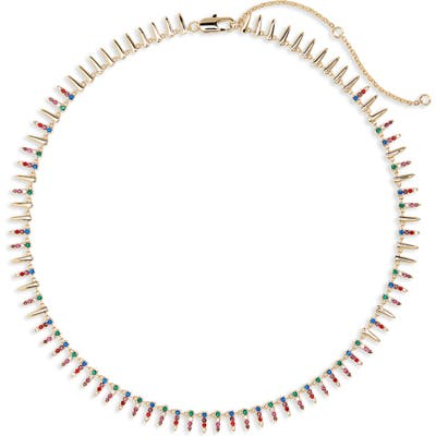 Nordstrom Pave Modern Spike Necklace