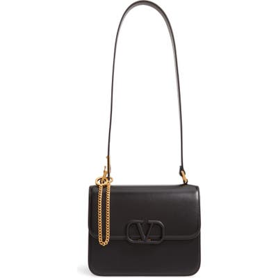 Valentino Garavani Leather Shoulder Bag - Black