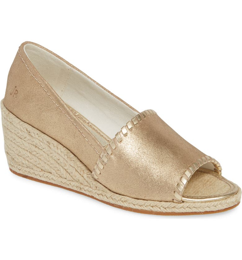 JACK ROGERS Palmer Wedge Peep Toe Espadrille, Main, color, 020